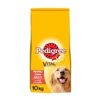 PEDIGREE Vital Protection Adult, Vită și Pasăre, pachet economic hrană uscată câini, 10kg x 2