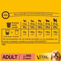 PEDIGREE Vital Protection Adult, Vită și Pasăre, hrană uscată câini, 15kg