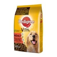 PEDIGREE Vital Protection Adult, Vită și Pasăre, hrană uscată câini, 500g