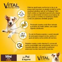 PEDIGREE Vital Protection Mini Adult, Pui și Legume, hrană uscată câini, 400g