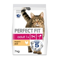 PERFECT FIT Cat Adult, Pui, pachet economic hrană uscată pisici, 7kg x 2
