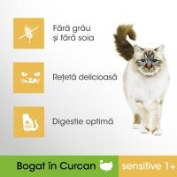 PERFECT FIT Cat Sensitive, Curcan, pachet economic hrană uscată pisici, sensibilitati digestive, 7kg x 2
