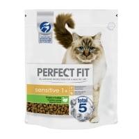 PERFECT FIT Cat Sensitive, Curcan, hrană uscată pisici, sensibilitati digestive, 750g