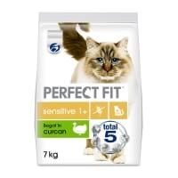 PERFECT FIT Cat Sensitive, Curcan, hrană uscată pisici, sensibilitati digestive, 7kg