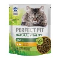 PERFECT FIT Natural Vitality, Pui si Curcan, hrană uscată pisici, 650g