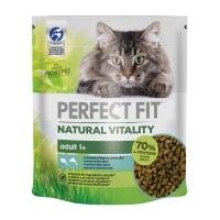 PERFECT FIT Natural Vitality, Somon și Pește cu carne albă, hrană uscată pisici, 650g