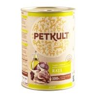 PETKULT Grain Free Adult, Rață, conservă hrană umedă fără cereale câini, 800g