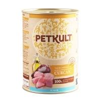PETKULT Grain Free Junior, Curcan, conservă hrană umedă fără cereale câini junior, 400g