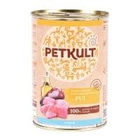 PETKULT Grain Free Junior, Pui, conservă hrană umedă fără cereale câini junior, 800g