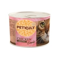 PETKULT Pui, pachet economic conservă hrană umedă fără cereale pisici, 185g x 6