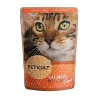 PETKULT Somon, pachet economic plic hrană umedă fără cereale pisici, 100g x 10