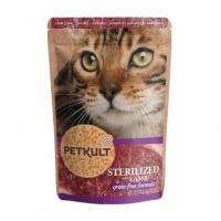 PETKULT Sterilised, Miel, plic hrană umedă fără cereale pisici, 100g