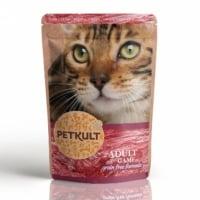 PETKULT Vânat, plic hrană umedă fără cereale pisici, 100g