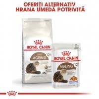 Royal Canin Ageing, 12 +, pachet economic hrană uscată pisici senior, 4kg x 2