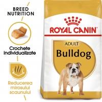 Royal Canin Bulldog Adult, pachet economic hrană uscată câini, 12kg x 2