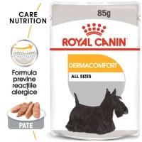 Royal Canin Dermacomfort Adult, plic hrană umedă câini, prevenirea iritațiilor pielii (pate), 85g