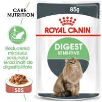 Royal Canin Digest Sensitive Care Adult, plic hrană umedă pisici, confort digestiv, (în sos), 85g