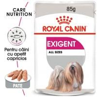 Royal Canin Exigent Adult, plic hrană umedă câini, apetit capricios, (pate), 85g
