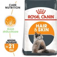 Royal Canin Hair & Skin Care Adult, pachet economic hrană uscată pisici, piele și blană, 2kg x 2