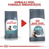 Royal Canin Hairball Care Adult, hrană uscată pisici, limitarea ghemurilor de blană, 400g