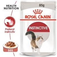 Royal Canin Instinctive Adult, plic hrană umedă pisici, (în sos), 85g