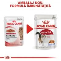 Royal Canin Instinctive Adult, plic hrană umedă pisici, (în aspic), 85g