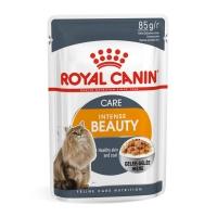 Royal Canin Intense Beauty Care Adult, plic hrană umedă pisici, piele și blană, (în aspic), 85g