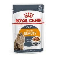 Royal Canin Intense Beauty Care Adult, plic hrană umedă pisici, piele și blană, (în sos), 85g