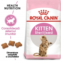Royal Canin Kitten Sterilised, hrană uscată pisici sterilizate junior, 400g