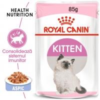 Royal Canin Kitten, plic hrană umedă pisici, (în aspic), 85g