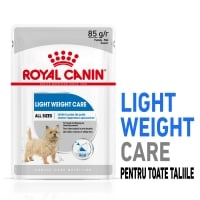 Royal Canin Light Weight Care Adult, plic hrană umedă câini, managementul greutății (pate), 85g