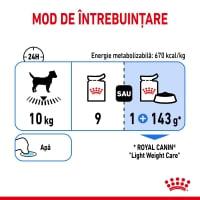 Royal Canin Light Weight Care Adult, plic hrană umedă câini, managementul greutății (pate), 85g