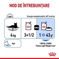 Royal Canin Light Weight Care Adult, plic hrană umedă, managementul greutății, (în aspic), 85g