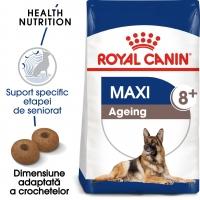 Royal Canin Maxi Ageing 8+, pachet economic hrană uscată câini senior, 15kg x 2