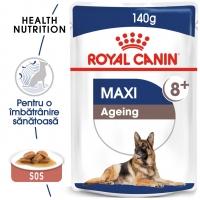 Royal Canin Maxi Ageing, plic hrană umedă câini senior, (în sos), 140g