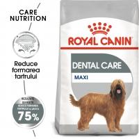 Royal Canin Maxi Dental Care Adult, pachet economic hrană uscată câini, reducerea formării tartrului, 9kg x 2