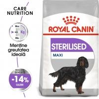 Royal Canin Maxi Sterilised Adult, pachet economic hrană uscată câini sterilizați, 9kg x 2