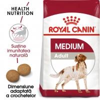 Royal Canin Medium Adult, pachet economic hrană uscată câini, 15kg x 2