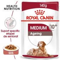 Royal Canin Medium Ageing, plic hrană umedă câini senior, (în sos), 140g
