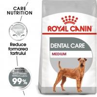 Royal Canin Medium Dental Care Adult, hrană uscată câini, reducerea formării tartrului, 3kg