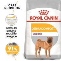 Royal Canin Medium Dermacomfort, pachet economic hrană uscată câini, prevenirea iritațiilor pielii, 10kg x 2