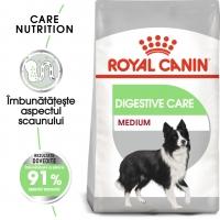 Royal Canin Medium Digestive Care, pachet economic hrană uscată câini, confort digestiv