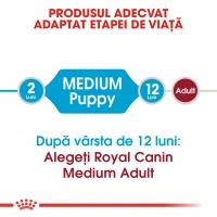 Royal Canin Medium Puppy, hrană uscată câini junior, 15kg
