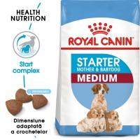 Royal Canin Medium Starter Mother & BabyDog, mama și puiul, pachet economic hrană uscată câini