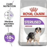 Royal Canin Medium Sterilised Adult, pachet economic hrană uscată câini sterilizați, 10kg x 2