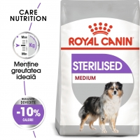 Royal Canin Medium Sterilised Adult, hrană uscată câini sterilizați, 10kg