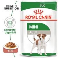 Royal Canin Mini Adult, plic hrană umedă câini, (în sos), 85g