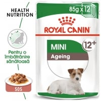 Royal Canin Mini Ageing 12+, bax hrană umedă câini senior, (în sos), 85g x 12