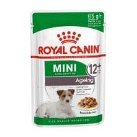Royal Canin Mini Ageing 12+, plic hrană umedă câini senior, (în sos), 85g