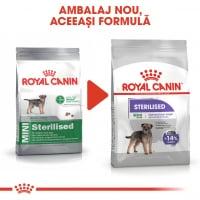Royal Canin Mini Sterilised Adult, hrană uscată câini sterilizați, 8kg